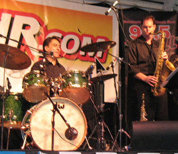 Rico and Doug Wailing at the Manchester Jazz and Blues Festival