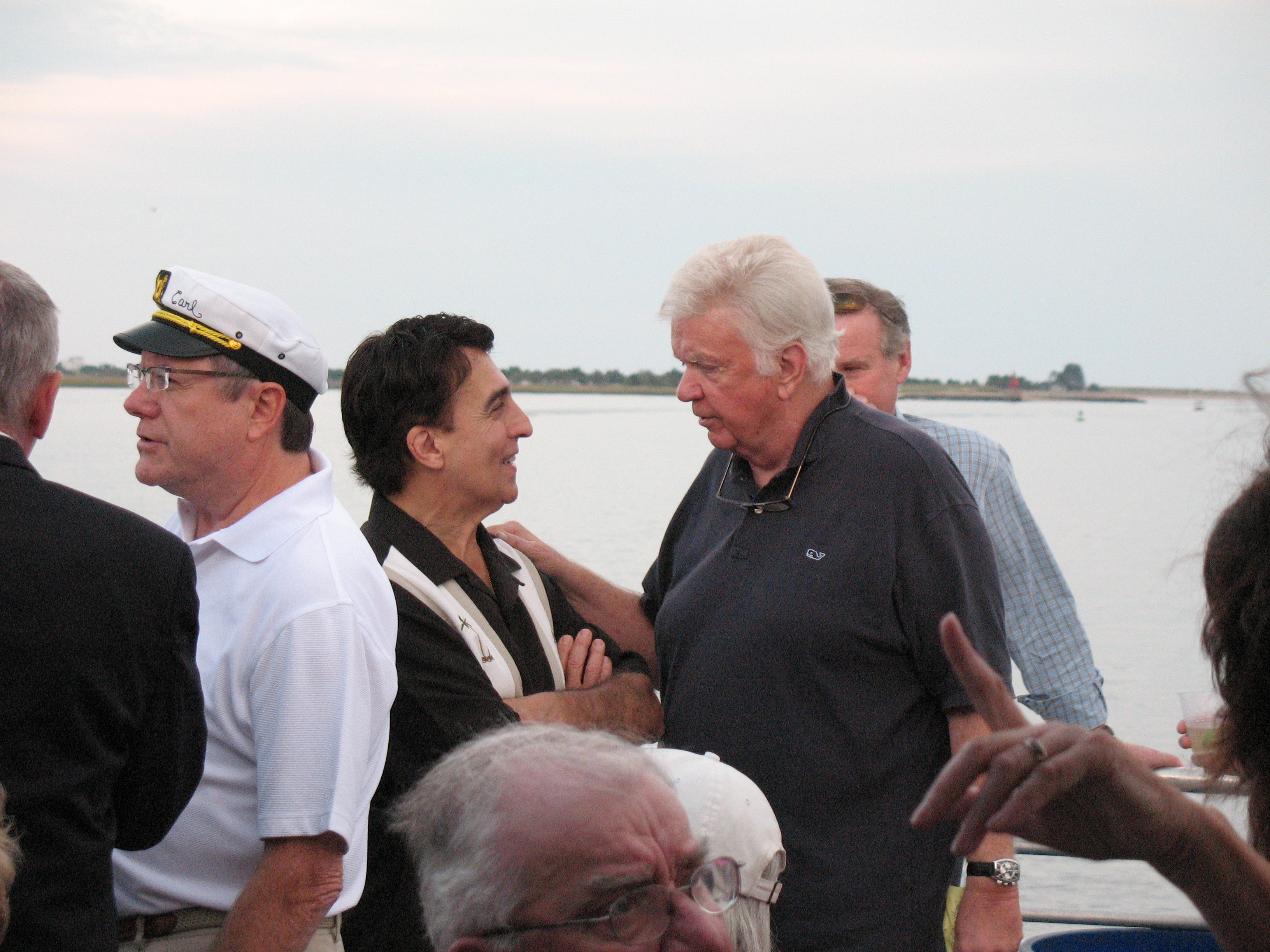 Rico meets Radio Legend Dick Robertson with Captain Carl fdrom WNBP